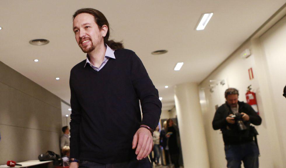 Pablo Iglesias, en los pasillos del Congreso, el pasado lunes.