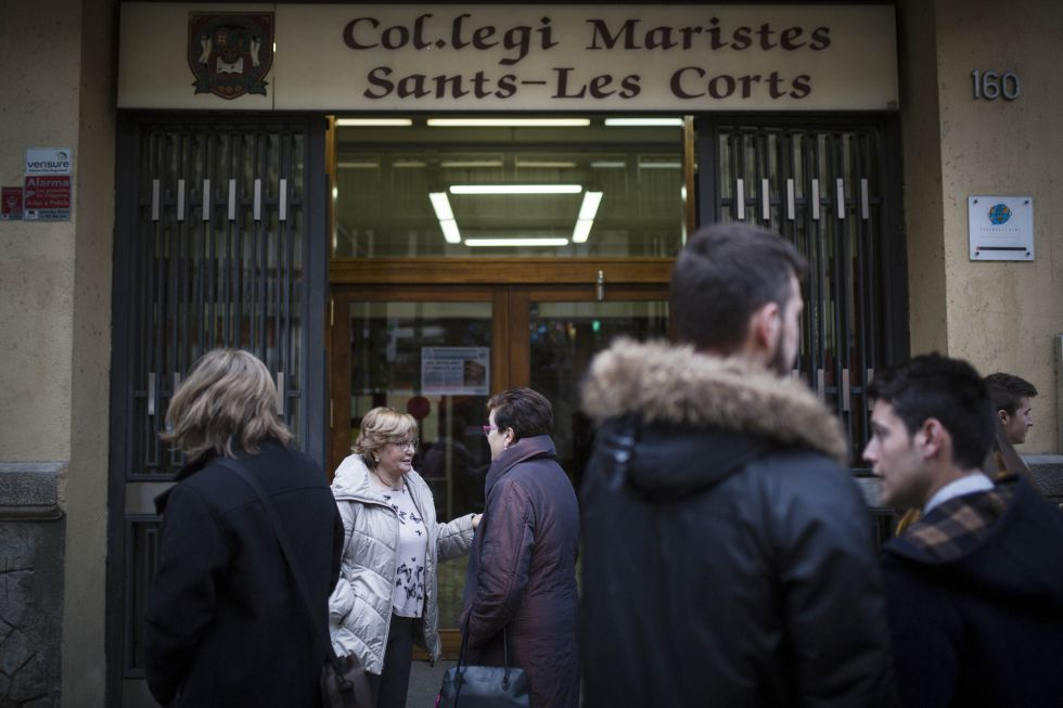 La puerta del colegio Maristas Sants Les Corts de Barcelona