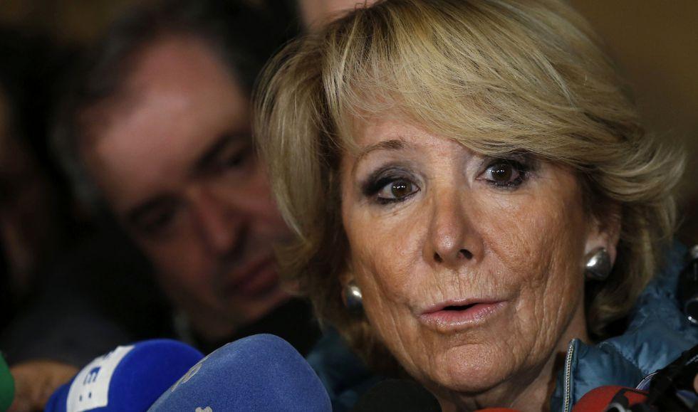 Esperanza Aguirre, el pasado día 12