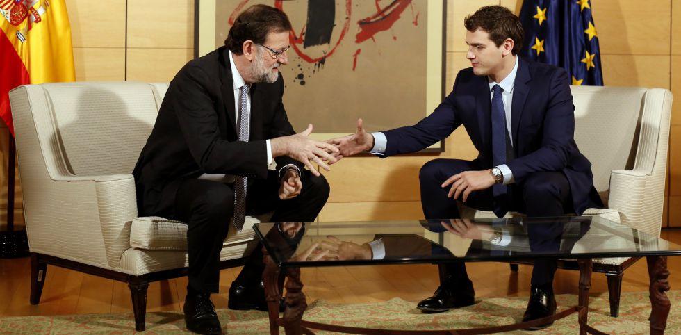 Mariano Rajoy y Albert Rivera, durante su reunión de la semana pasada.