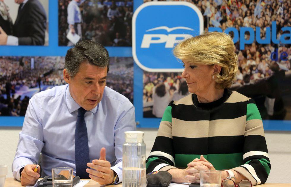 González y Aguirre el pasado 10 de marzo en el Comité Regional del PP.