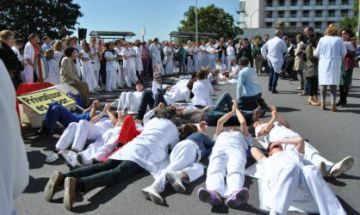 Protestas del personal del hospital de A Coruña