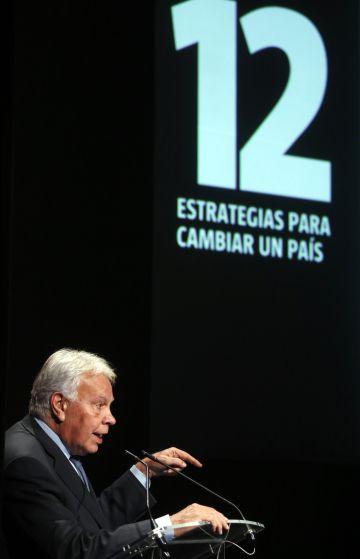 Former Prime Minister Felipe González, pictured on Wednesday.