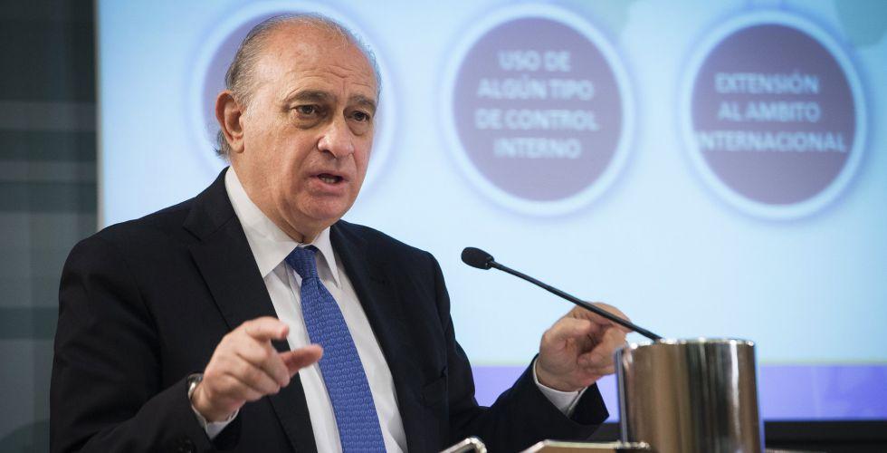El ministro del Interior, Jorge Fernández Díaz, este jueves.