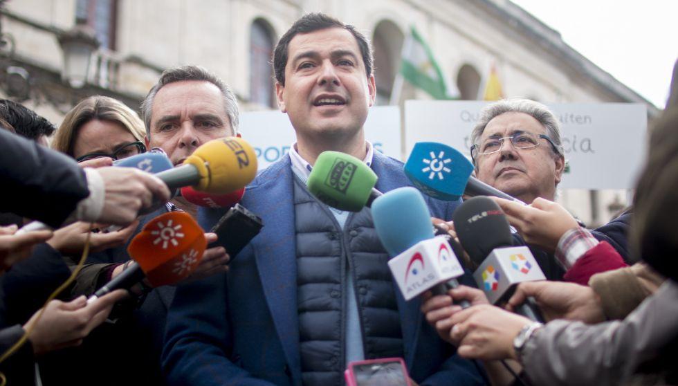 El líder del PP andaluz, Juan Manuel Moreno.