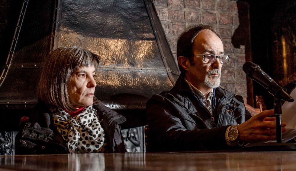 Los padres de Hodei Egiluz, este viernes, en Amberes.