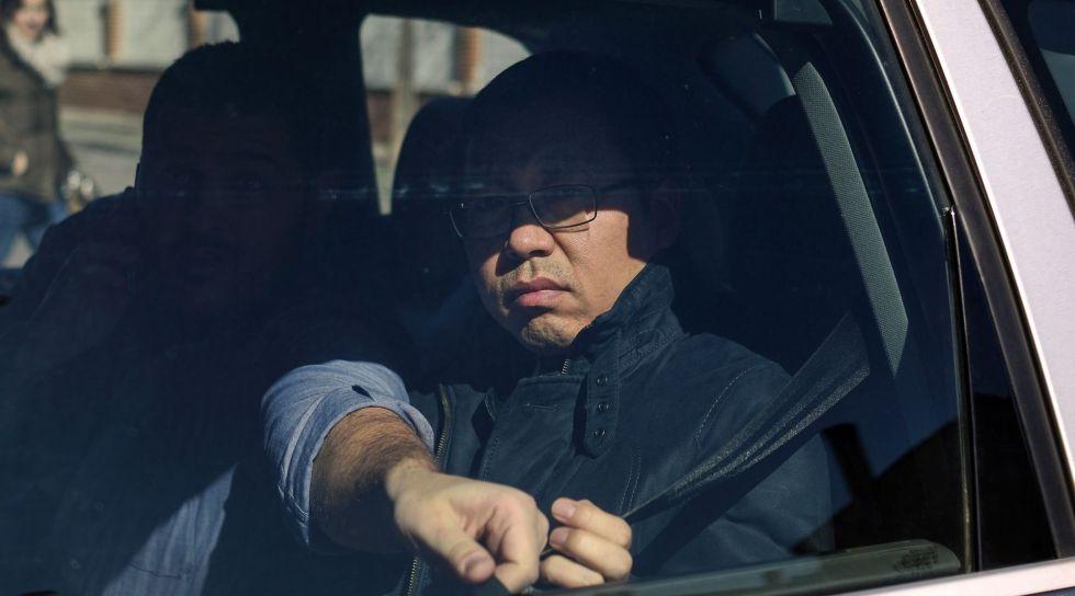 Un arrestado por el caso del banco ICBC llega a los juzgados de Parla.