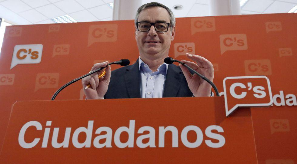 José Manuel Villegas, vicesecretario general de Ciudadanos, este domingo en Madrid.