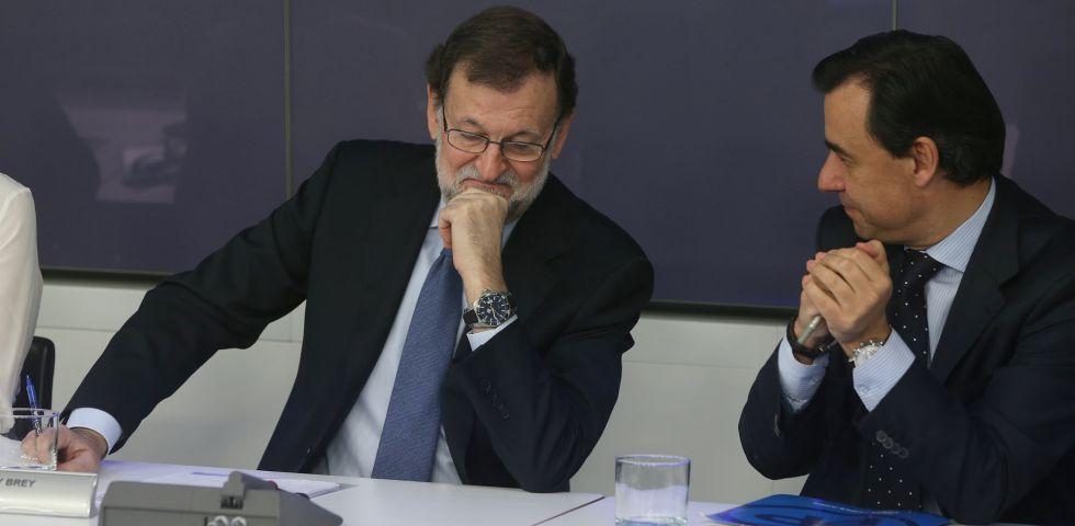 Mariano Rajoy y Fernando Martínez-Maillo, este lunes.
