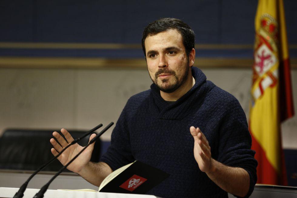 El diputado de IU Alberto Garzón, en el Congreso.