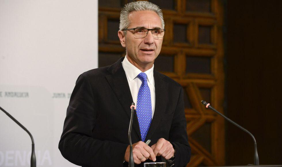 El portavoz del Gobierno andaluz, Miguel Ángel Vázquez.