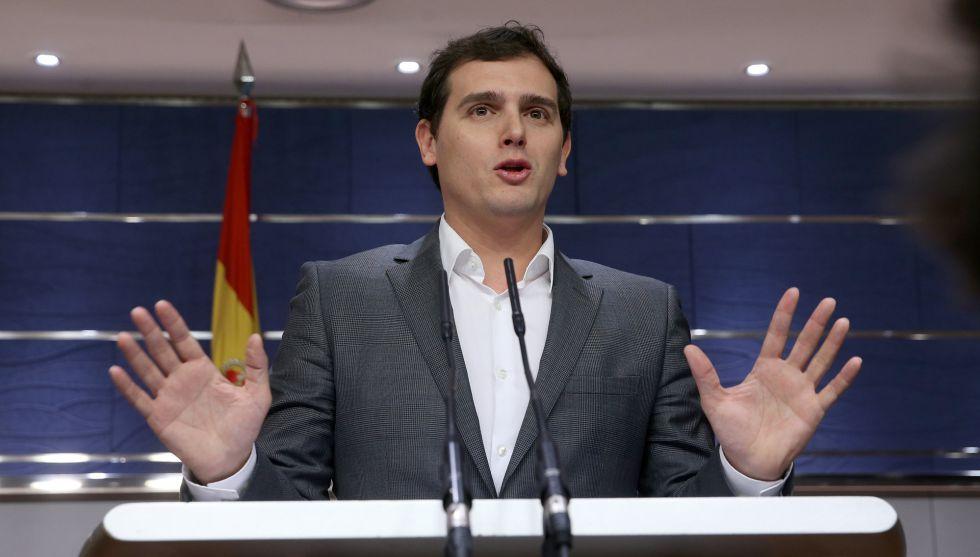 Albert Rivera en el Congreso de los Diputados.
