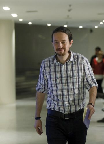 Podemos leader Pablo Iglesias in Congress on Tuesday.
