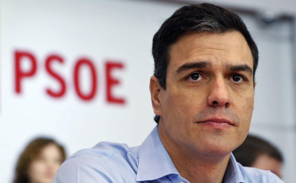 Pedro Sánchez este lunes en la reunión del comité federal del PSOE.