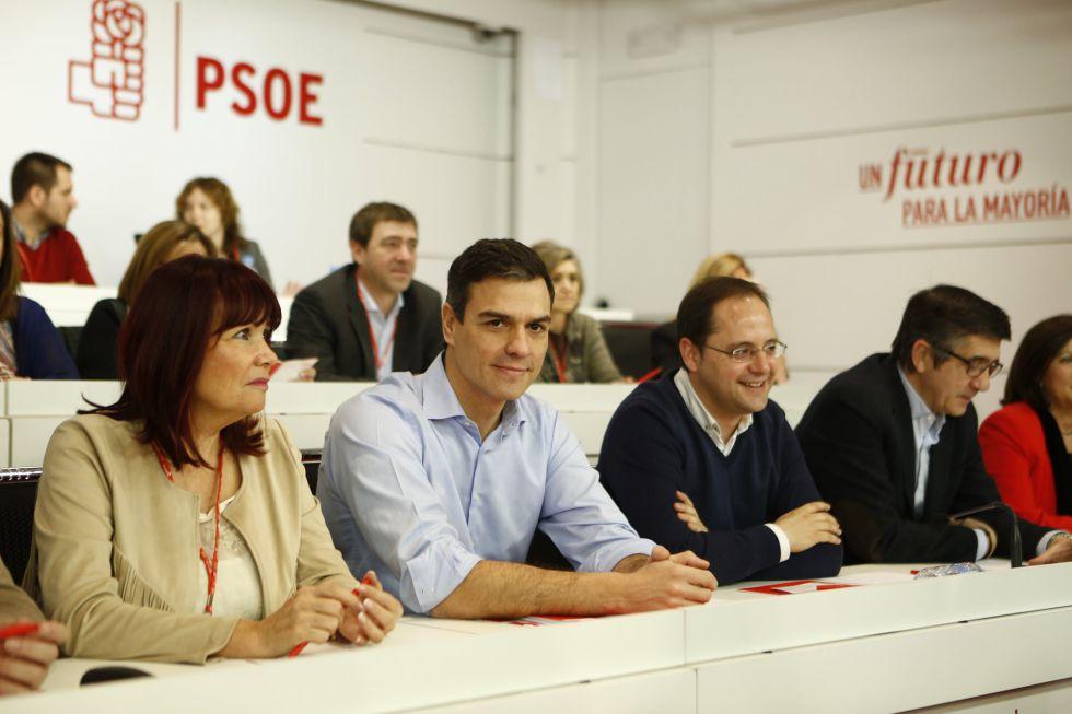 Pedro Sanchez en el Comite Federal