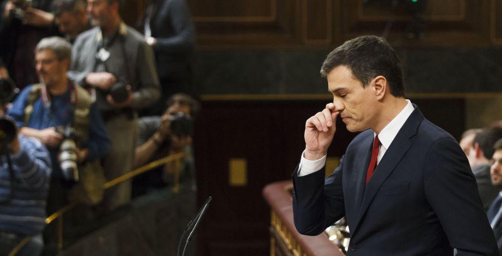 Pedro Sanchez, en su discurso de investidura este martes.