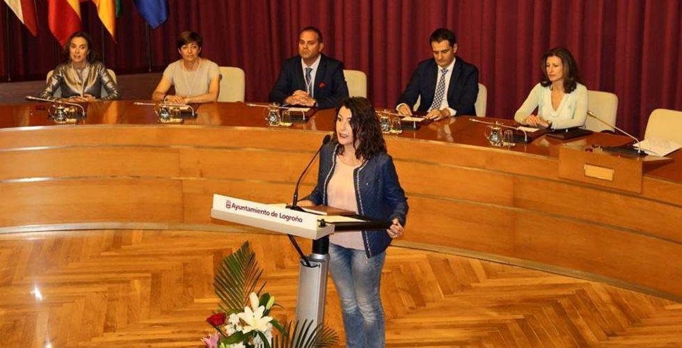 La concejal Nazareth Quijano, durante una intervención en el Ayuntamiento.