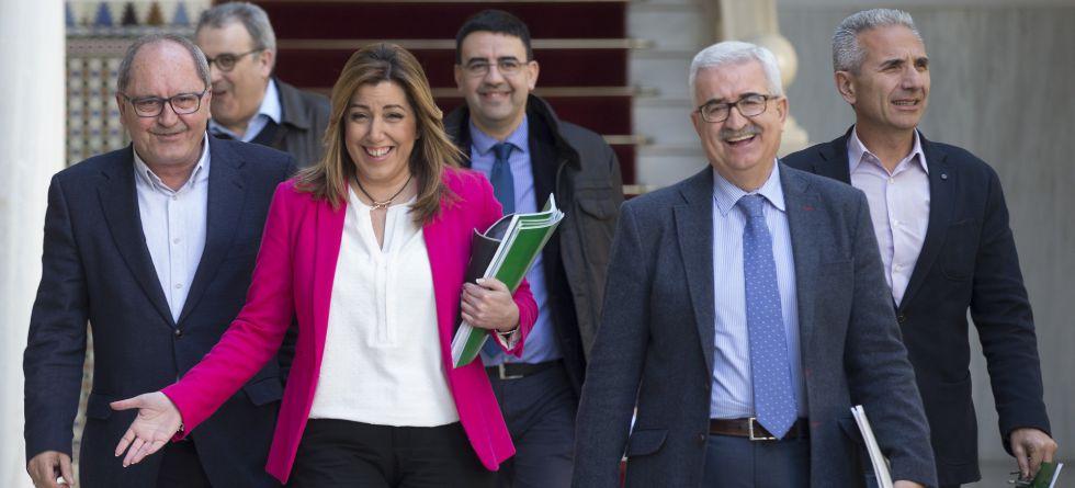 La presidenta de la Junta de Andalucía, Susana Díaz, en el Parlamento.