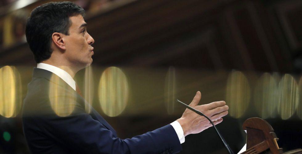 El secretario general del PSOE, Pedro Sánchez, este miércoles.