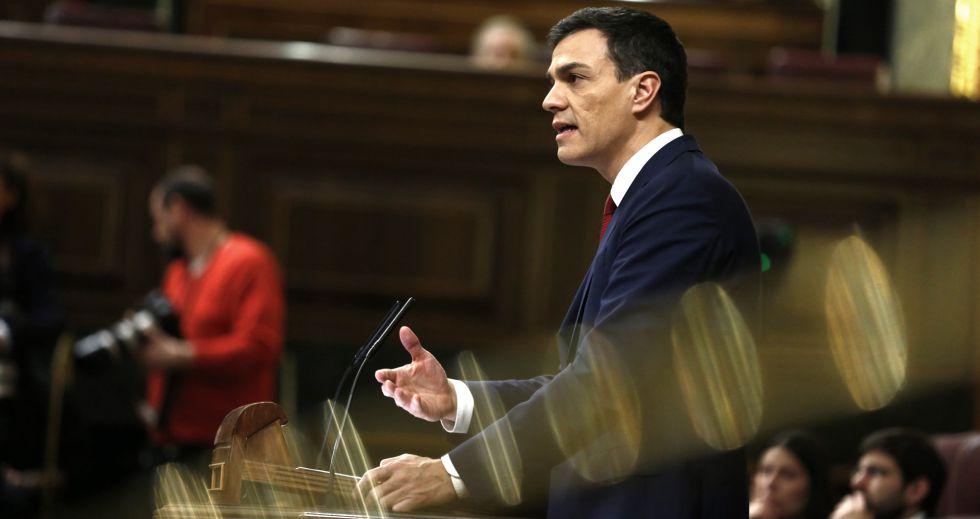 Pedro Sánchez, el miércoles en el Congreso.