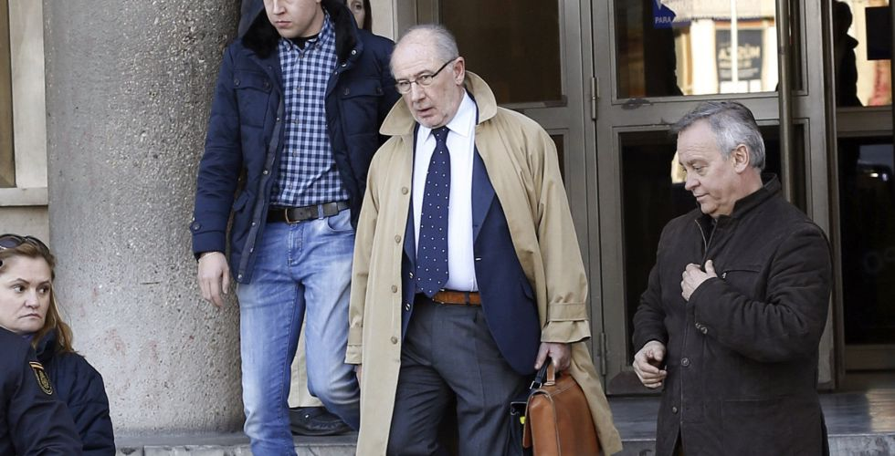 Rodrigo Rato, a la salida de los juzgados de la Plaza de Castilla.