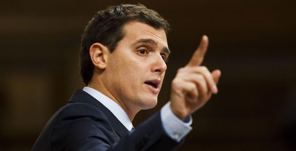 Albert Rivera durante el debate de investidura.