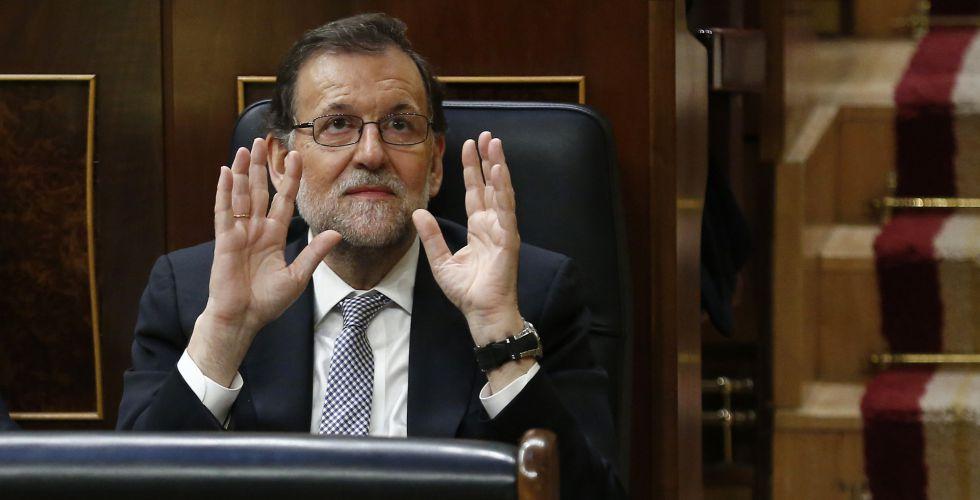 Mariano Rajoy durante la sesión de investidura del miércoles