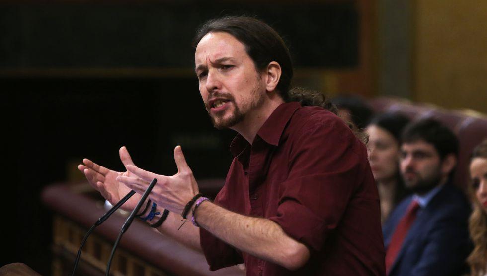 El líder de Podemos, Pablo Iglesias, este viernes.