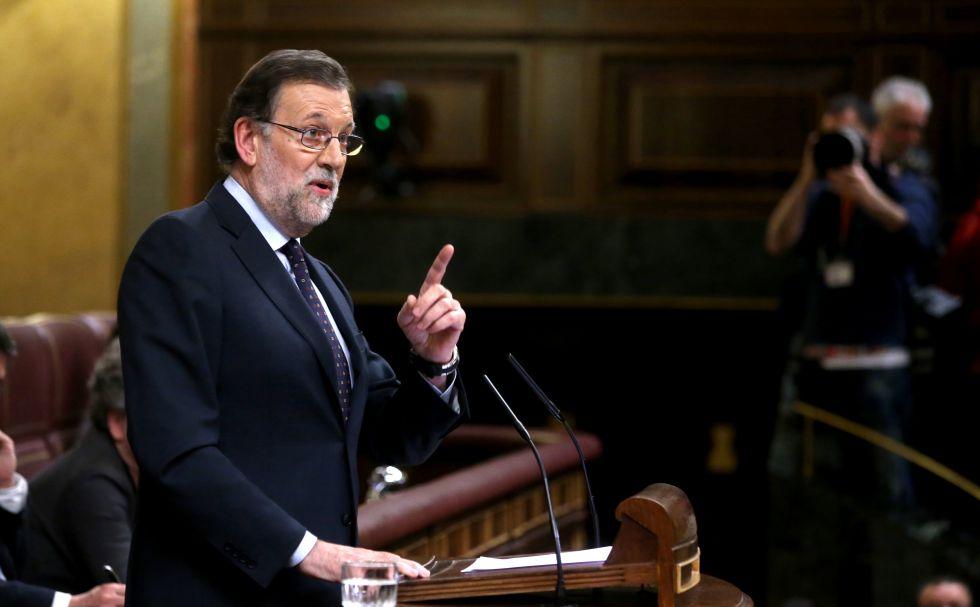 El presidente del Gobierno en funciones, Mariano Rajoy, este viernes.