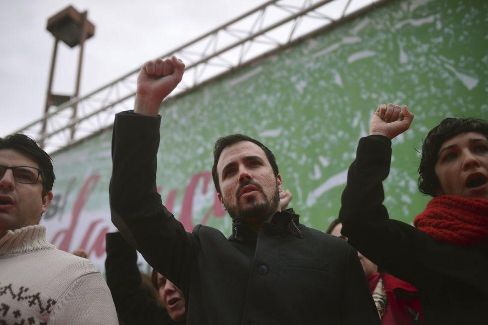 El portavoz parlamentario de Izquierda Unida, Alberto Garzón, en la celebración del Día de Andalucía.