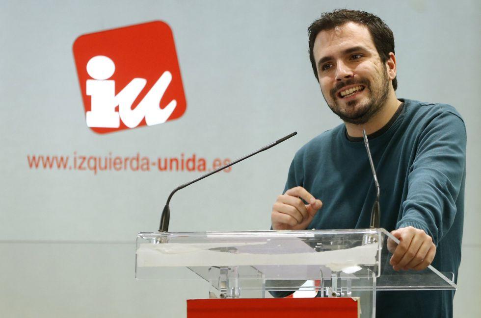 El portavoz parlamentario de IU, Alberto Garzón, en el Consejo Político de la formación.