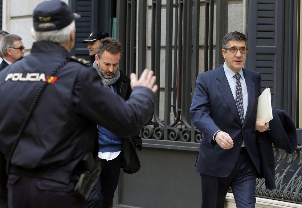 Patxi López, a su llegada al Palacio de las Cortes el pasado 2 de marzo