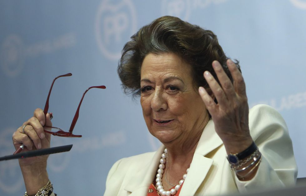La exalcaldesa de Valencia Rita Barberá, hoy senadora.
