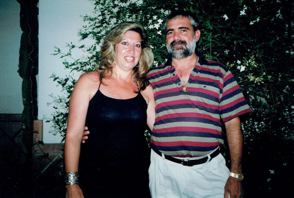Lucía Garrido junto al que fue su pareja, Manuel Alonso.