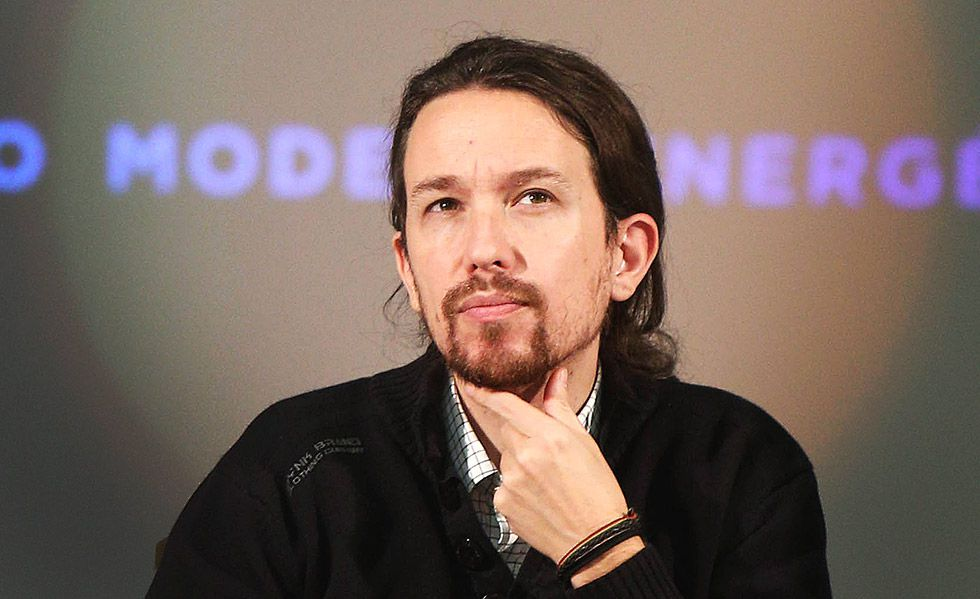 El secretario general de Podemos, Pablo Iglesias, en un acto en Madrid.