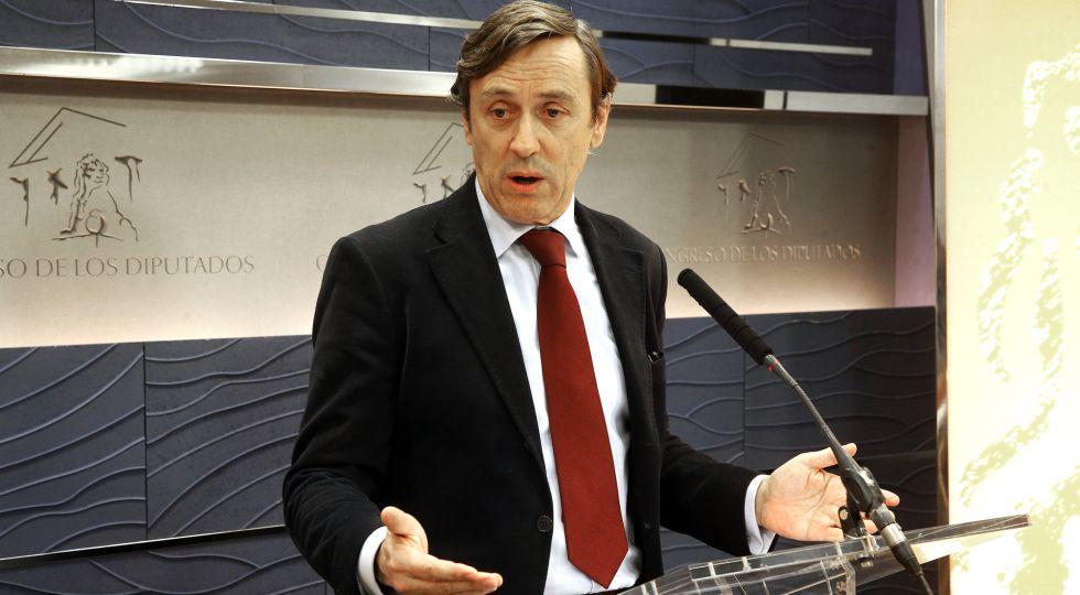 El portavoz parlamentario del PP, Rafael Hernando, este miércoles.