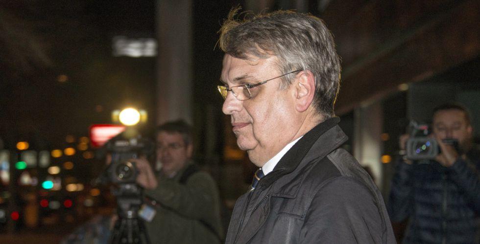 Miguel Tejeiro a su salida este miércoles del juicio.