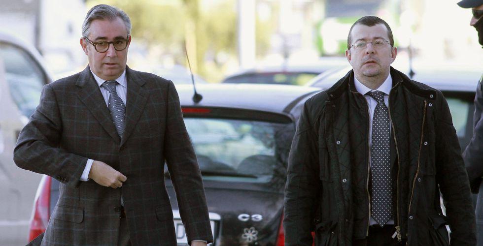 Diego Torres y su abogado, Manuel González Peeters.