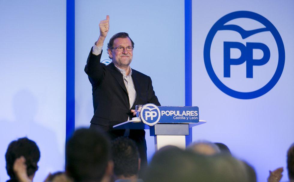 Mariano Rajoy en Salamanca la semana pasada.