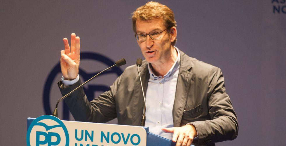 Feijóo, el domingo durante el congreso del PP de Pontevedra.