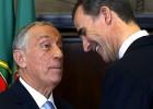 El Rey se reúne con el presidente de Portugal en el Palacio Real