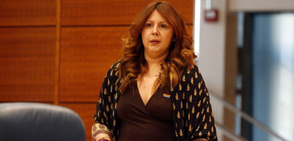 Eva Borox, en la Asamblea de Madrid.