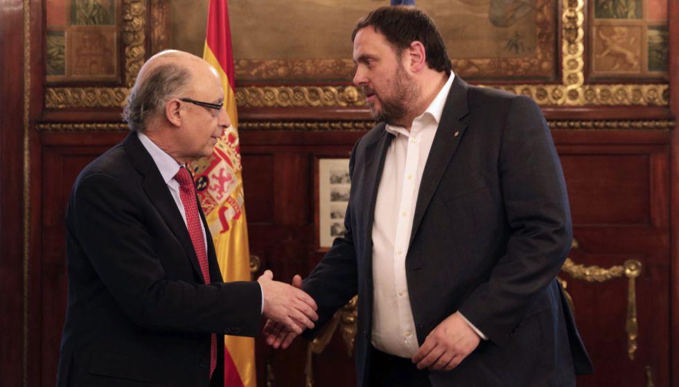 Montoro, con el conseller económico de la Generalitat, Oriol Junqueras.