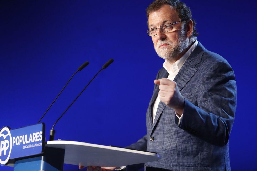 Mariano Rajoy durante un mitin de nuevas generaciones del PP.