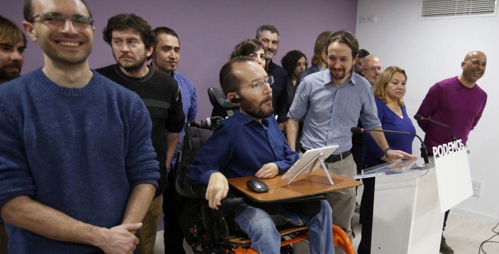 Pablo Echenique y Pablo Iglesias, el pasado viernes