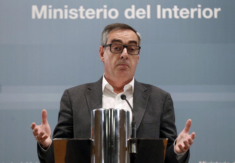 El vicesecretario general Ciudadanos, José Manuel Villegas, durante la rueda de prensa del 22 de marzo.