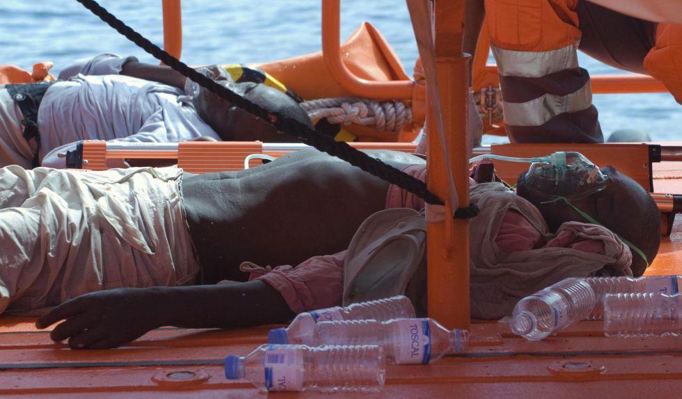 Inmigrantes rescatados en Canarias