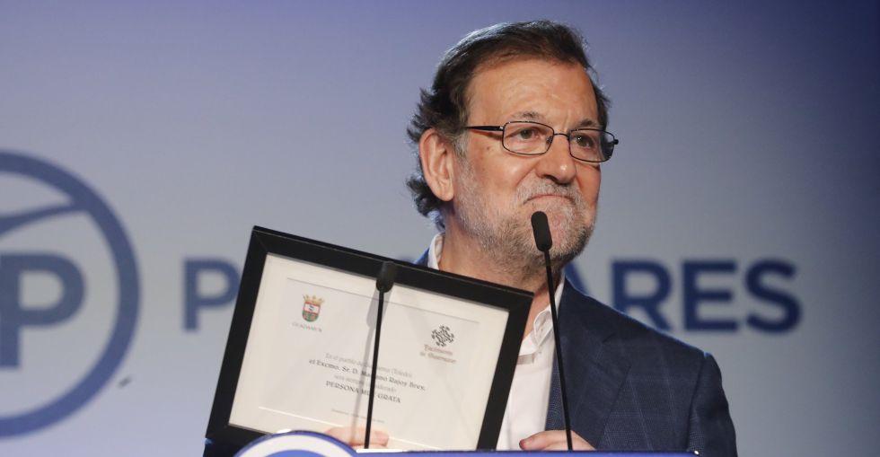 Mariano Rajoy, en un mitin este mes de marzo.