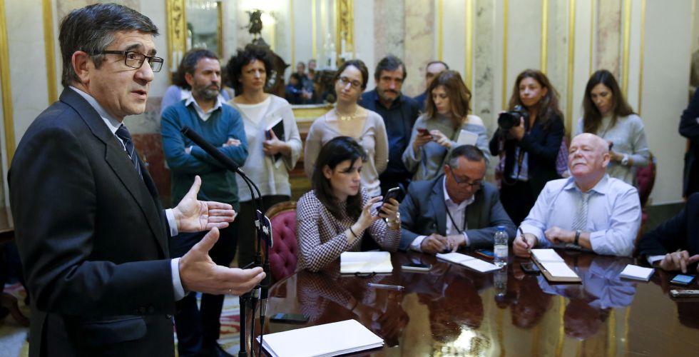 El presidente del Congreso, Patxi López, este martes.