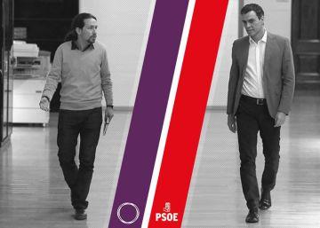 Pedro Sánchez y Pablo Iglesias, cara a cara